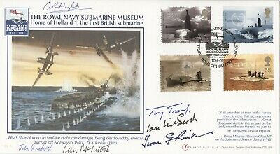 Buckingham Official FDC 2001 Submarines SIGNED CERTIFIED 6 signatures