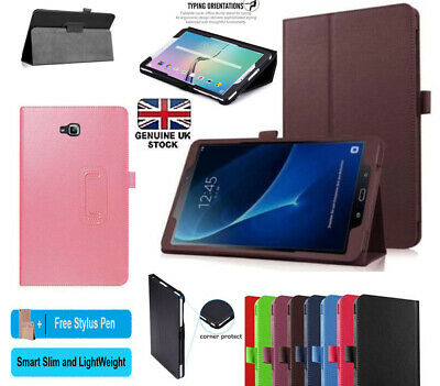 """Leather Stand Smart Flip Case Cover Fits Samsung Galaxy Tab A 10.1"""" SM-T580/T585"""