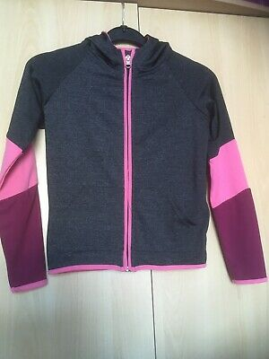 Girls Sportswear Workout Zip Up Hooded Top, Age 8-9 Years