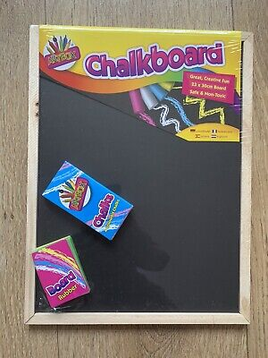 New A4 Kids Children Chalk board learn to write clean wipe with chalks.