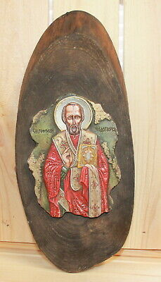 Hand made Orthodox icon Saint Nicholas