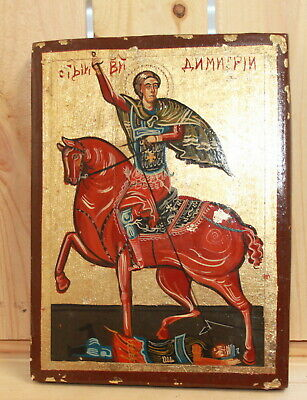 Hand painted Orthodox icon Saint Demetrius