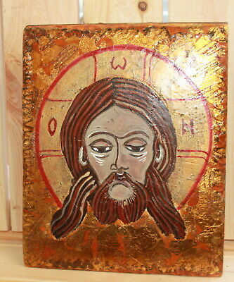 Hand painted Orthodox icon Jesus Christ
