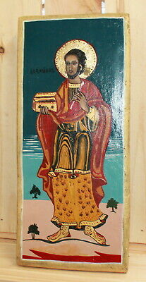 Vintage hand painted Orthodox icon Saint Damian