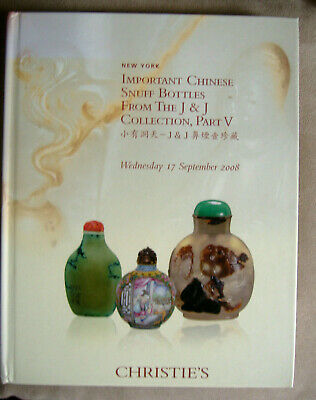 Important Chinese Snuff Bottles fr The J&J Collection Christie's Catalogues 5vls
