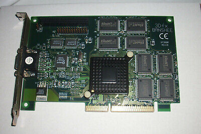 3Dfx Sparkle SP3800 rev B Voodoo Banshee silent AGP graphics card 16MB SGRAM