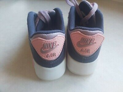 Girls Blue & Pink Nike Air Max Trainers Infant Size 12