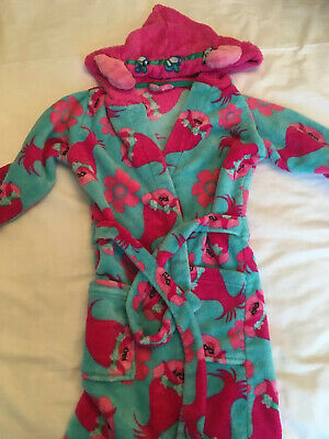 Tu Girls Trolls Dressing Gown Age 7-8 Years