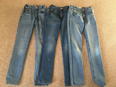 3 Pair Bundle Boden Age 8 Boys Slim Fit Jeans Excellent Condition