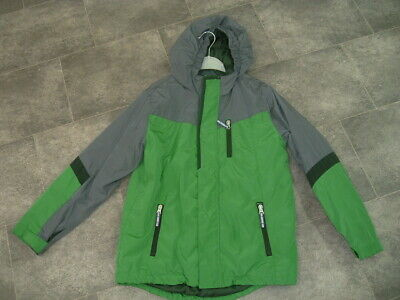 Age 10-11 Years Lands' End Boys Grey Green Padded Coat Jacket With Hood