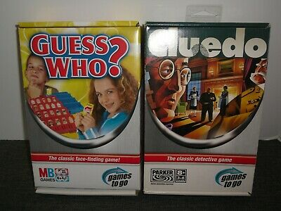 Guess Who & Cluedo - Games To Go - 2X Classic Travel Games - By Hasbro 2005
