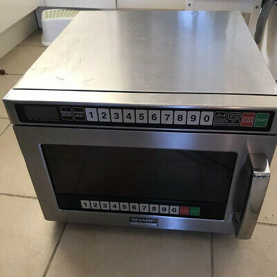 Sharp R1900m Commercial Microwave Oven  Full Working Order