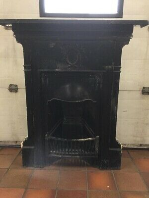 Open fire, cast iron, surround victorian, antique fireplace