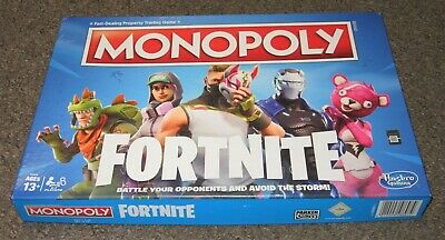 Monopoly Fortnite Edition Family Party Board Game Complete