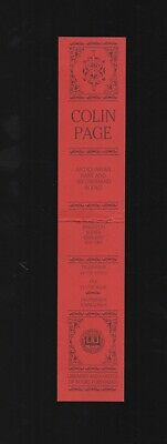Colin Page Antiquarian Bookshop bookmark