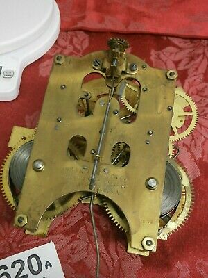 "CLOCK ANSONIA MOVEMENT 8 Day USA mantle bracket 4 1/2"" parts spares sound leader"