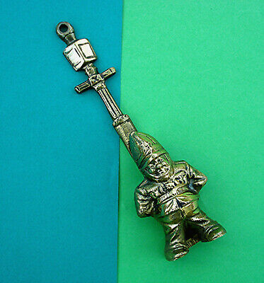 UNUSUAL VINTAGE DOOR KNOCKER BRASS POLICEMAN UNDER LAMP POST Reg. No. for 1940s