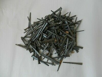 Vintage Antique Lot of 1 Lb 12 Oz  2 1/4 Inch Cut Square Nails
