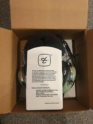 DAVID CLARK H10-13.4 AVIATION HEADSET with Bag and Box. GA Plugs