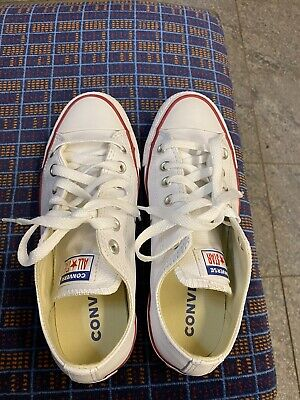 Converse All Star Low lassic Chuck Taylor Trainers for Women, Size 4.5 - White