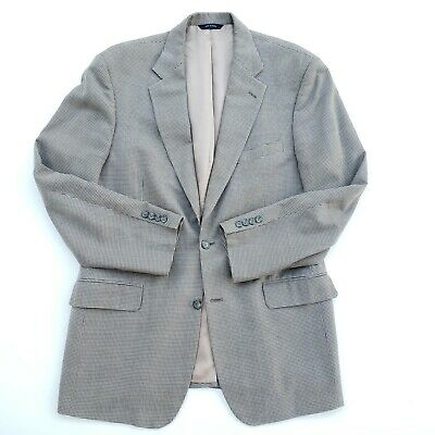 Brooks Brothers 42R Gray Silk Houndstooth 2 Button Center Vented Sport Coat
