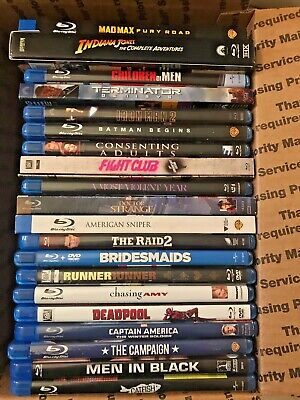 LOT OF 20 Blu-Ray Movies, Indiana Jones set, Marvel, Tested