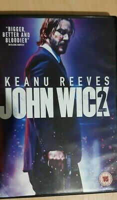 John Wick Chapter 2 DVD (2017) Keanu Reeves assassin action free p&p