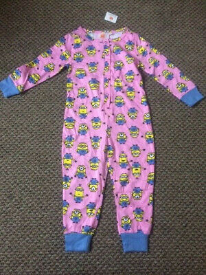 Girls Exstore Minions All In One Sleepsuit Size 9 - 10 years - New with Tags!!!