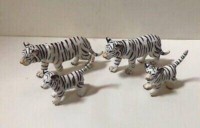Lot 4 Schleich WHITE SIBERIAN TIGER FAMILY Cubs Babies, Wildlife, Animals