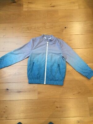 Boys 11/12 Yrs River Island light weight zipped blue and grey jacket