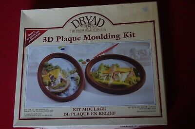 3D Plaque Moulding Kit from Dryad makes two wall plaques never been used