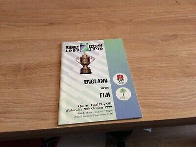 1999 quarter-final of the rugby World Cup England versus Fiji  programme