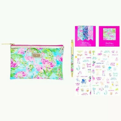 Lilly Pulitzer Floridita Agenda Bonus Pack - Pen Magnets Bag Pouch Nwt