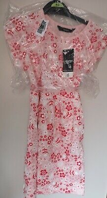 Girls Pink/Red Summer Floral Dress. Aged 4-5. BNWT - Immaculate. Asda/George.