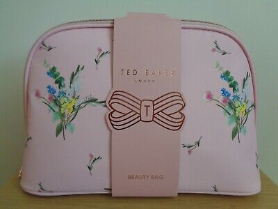 Ladies Ted Baker Beauty Bag Large Cosmetic Bag / Wash Bag / Toiletry Bag - NEW