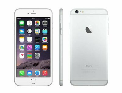 SPRINT Apple iPhone 6 Plus + 4G LTE Silver Video Camera Smart Cell Phone *CLEAN*