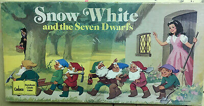1977 Rare Vintage~Snow White & The Seven Dwarfs~Cadaco Board Game Complete