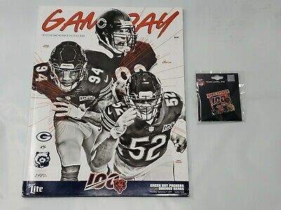 2019 Green Bay Packers VS Chicago Bears 9/5/19 Game Day Pin ~ Gameday Program