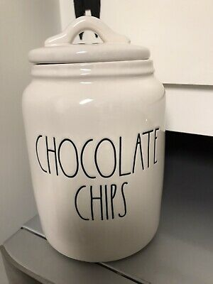 Rae Dunn NEW CHOCOLATE CHIPS Canister VHTF