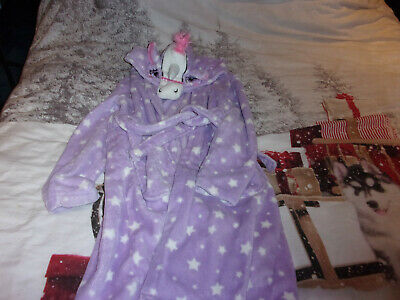 Girls Unicorn Dressing Gown Age 12-13 years