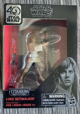 Star Wars Titanium Series 40th Anniversary Luke Skywalker Action Figure - NIB