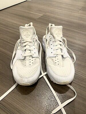 Mens White Nike Air Huarache Size 9 Uk Shoes Trainers Activewear casual running