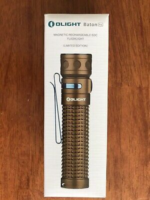 New Olight Baton Pro Desert Tan Limited Edition Rechargeable Flashlight  Edc