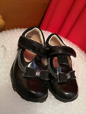 Black Clarks Shoes Size 4.5f Toddler Baby