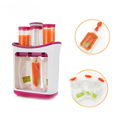 Squeeze Station Baby Food Maker Pouche Fresh Squeezed Feeding Containers Storage