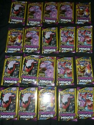LOT OF 20  pokemon unified minds sun and moon