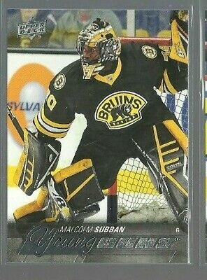 2015-16 Upper Deck #211 Malcolm Subban YG Young Guns RC (ref 79642)