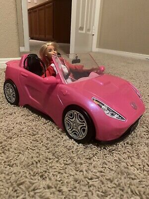 Pink Barbie Glam Toy Car Doll 2 mattel hot Seats Shine Vehicle + Barbie included