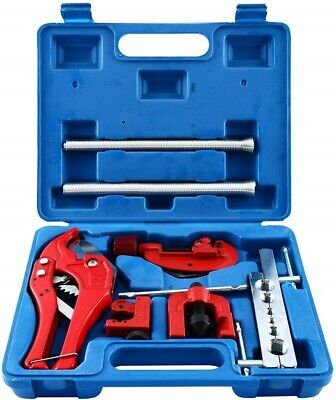 NEW! 9Pcs Brake Flare Tool Flaring and Swaging Tool Kit Brake Line Flaring Tool