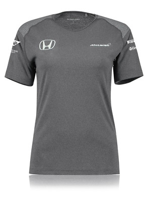 McLaren Honda Official 2017 Team T-Shirt F1 Formula One Womens - Size Medium